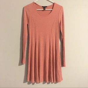 [Forever 21] Coral Long Sleeve Dress